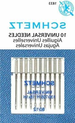 Schmetz Universal Sewing Machine Needles Size 80/12~ 10PK~Pa