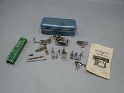 Vintage  Singer 66 Sewing Machine   Attachments  With POOR M