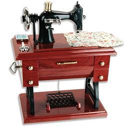 Vintage Mini Sewing Machine Style Plastic Music Box Table De